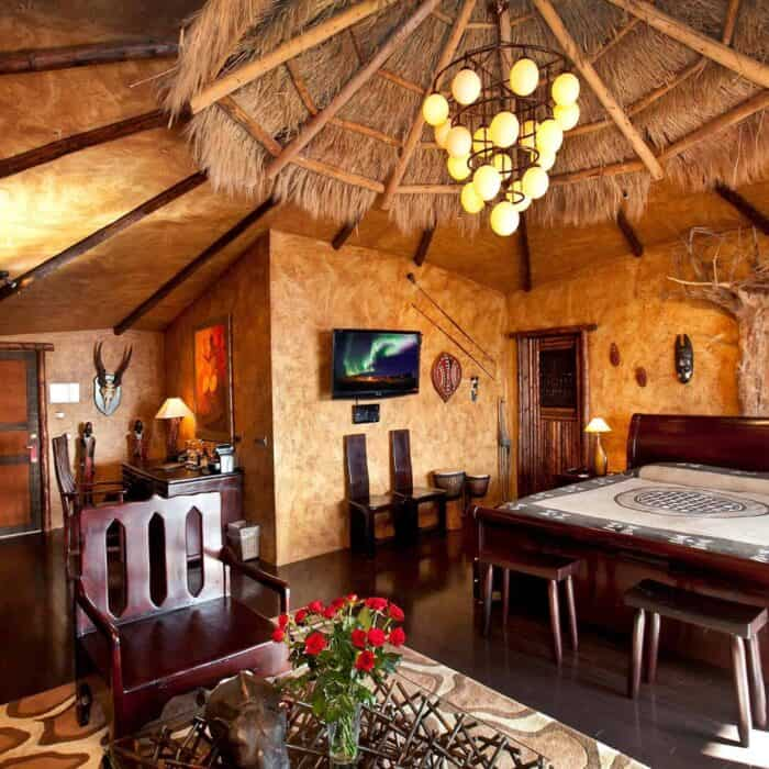 The African suite at Hotel Rangá